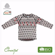 Handmade winter clothes 100 merino child knitted pullover underwear wool sweater design for baby