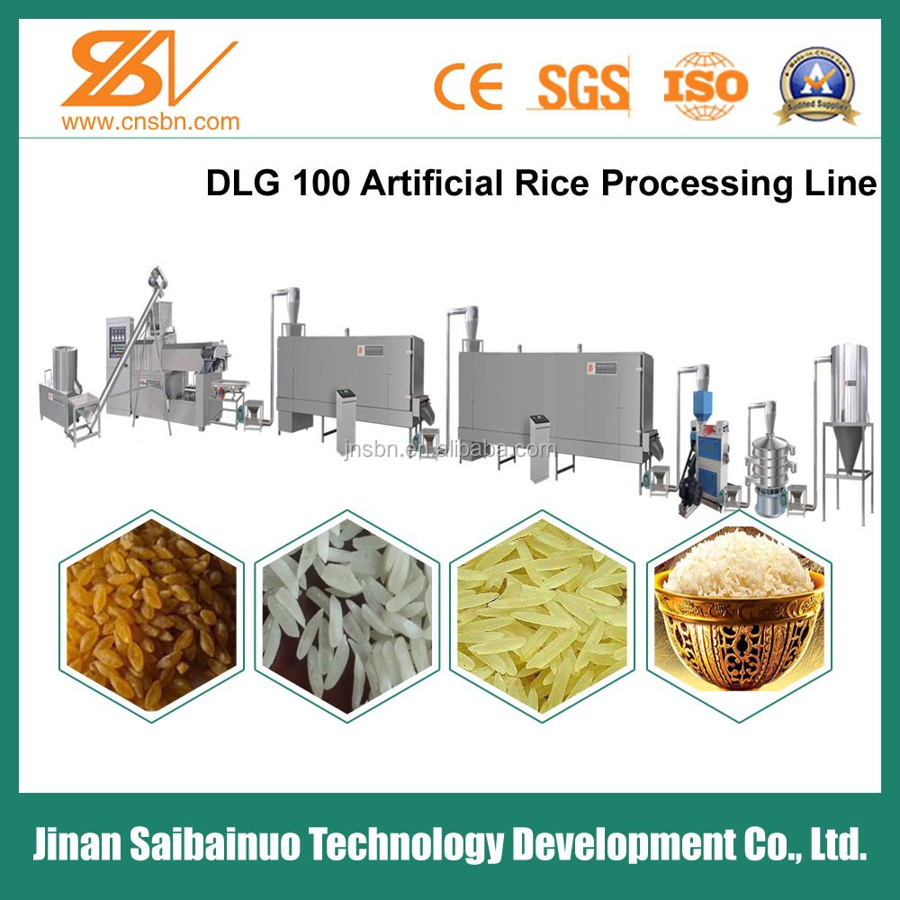 Thin and long Automatic Nutritional Artificial Rice Making Machine