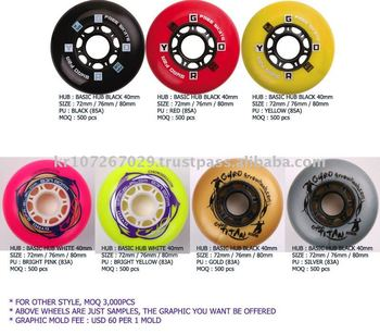 Freestyle slalom / skateboard / hockey Wheels (Twister Hub)