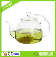 Chinese Design Good Quality Glass Tea Pot With Glass Lid