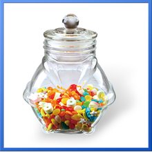 beautiful candy storage glass jar / penguin candy jar