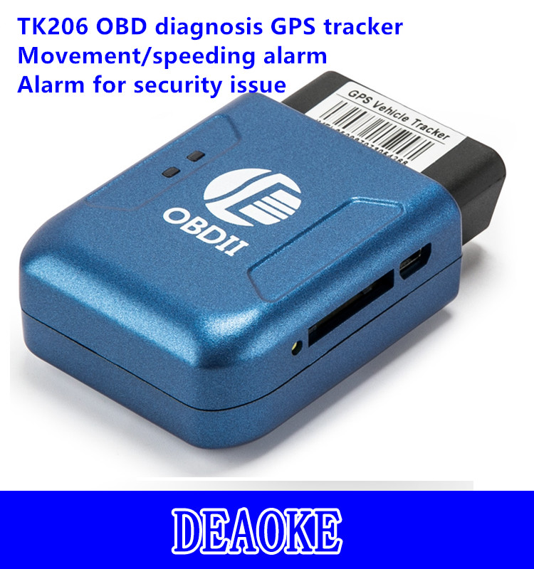 mini Tracking Online Software Free TK206 obd ii gps tracker for car bus texi