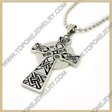Wholesale fashion stainless steel celtic cross necklace pendant
