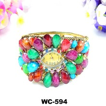 Flowers bracelet watch Turquoise Alloy Watch Yiwu factory direct