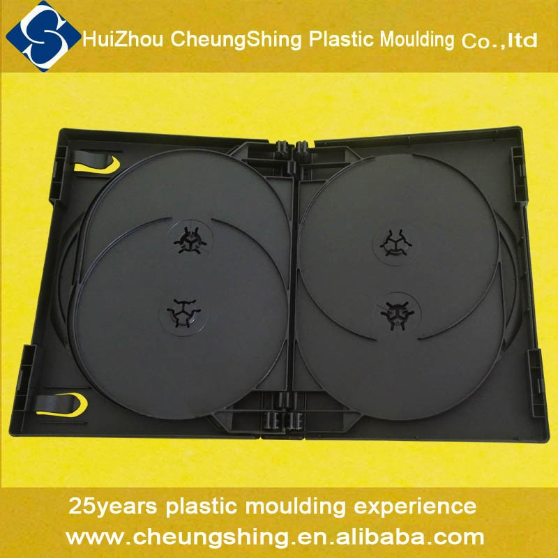 23 years manufacturing experience pp plastic 27mm 8 discs black dvd case