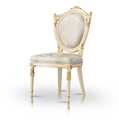 Round back padded dining chairs / contemporary chairs