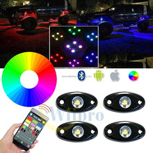 sanyou lighting manufacturing mini rock RGB 4 pods hd accessories small led lights for cars