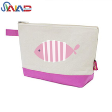 Wholesale canvas zipper pouch pouch cosmetic bag