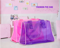 China Suppliers elegant clear eco zipper pvc hand makeup bag, Lady Hand Bag With Zipper