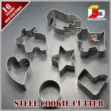 different shaped stainless steel bulk cookie cutters