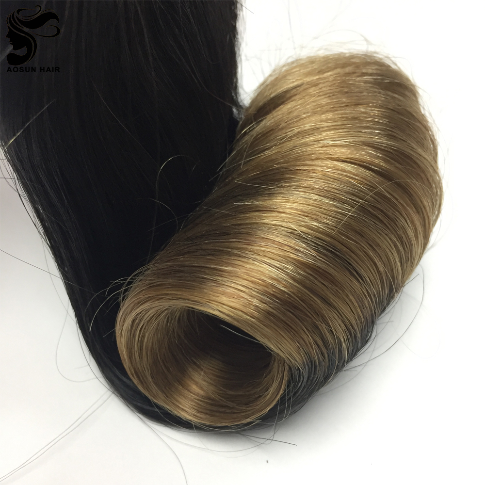 Wholesale Double Drawn Color 1b/#27 Two Tone 10inch to 20inch Available Hot Sale Funmi Egg Curly Fumi Hair