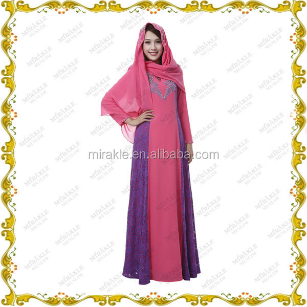 MF23598 2014 latest abaya with scarf in wholesale for muslim