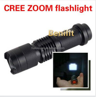 SK68 Women self-defense Mini pencil torch cree 300lm 7w led torch zoom flashlight