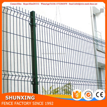 Cheap price 1.53*2.5m size 2 curved 3d crimped mesh fencing with flat surface