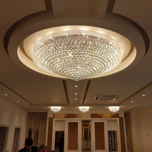 classical large golden crystal ball ceiling light decoration lighting