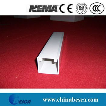 White/Gray PVC Cable Trunking (UL, IEC, SGS and CE)