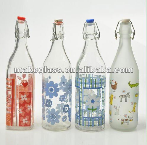 airtight glass milk bottle/1000ml