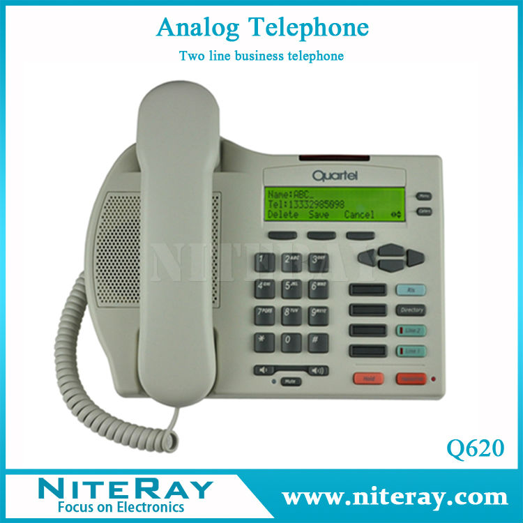 Hotel/Home/Office 2 lines analog telephone manufacturer