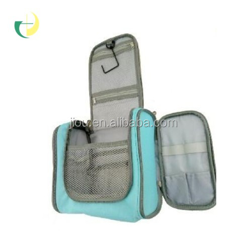 The most popular sell Skyblue 600D polyester travelon toiletry bag