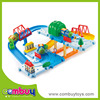 New design build your city toys plastic mini car racing track