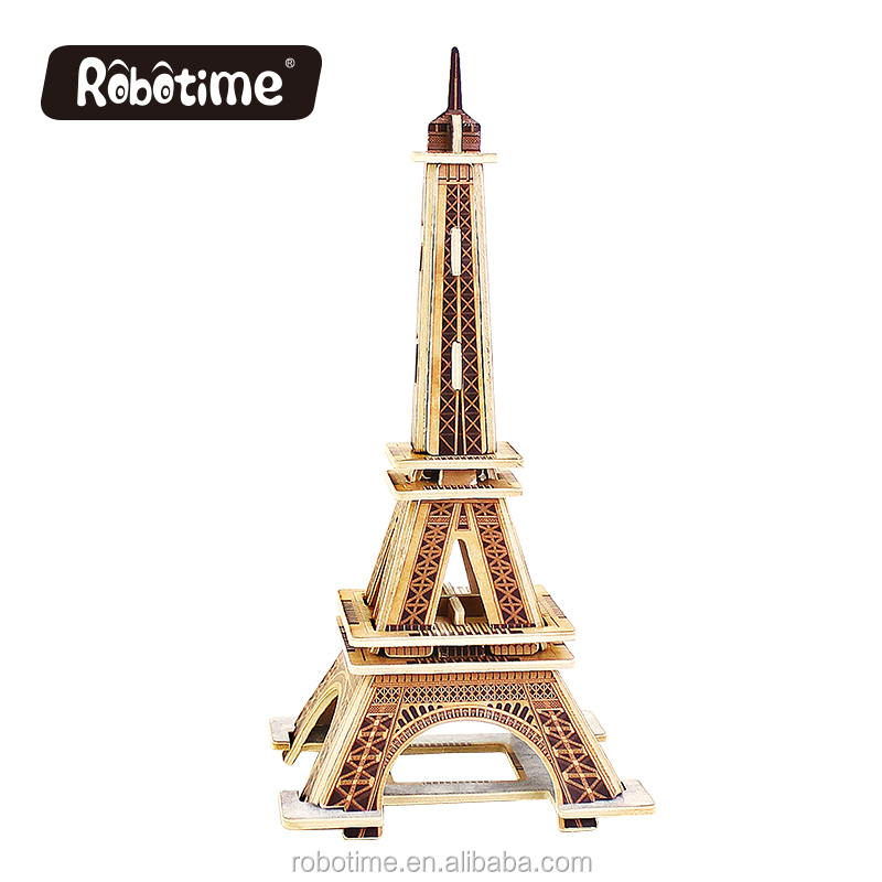 Robotime educational wooden Effiel Tower model toys made in China