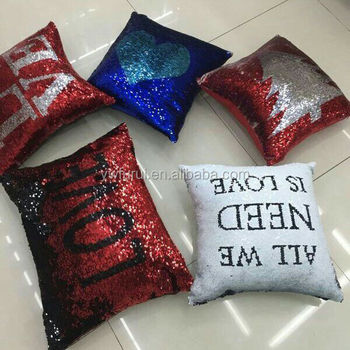 New Fashion Reversible Mermaid Sequin Pillow Magical Color Changing Throw Pillow Cover Home Decor Cushion Cover