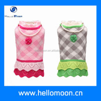 Fashion Colourful Grid Hollow Dog Sweaters Small Dogs