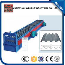Superior Quality Colored grazed steel roof Tile metal floor deck roll forming machine