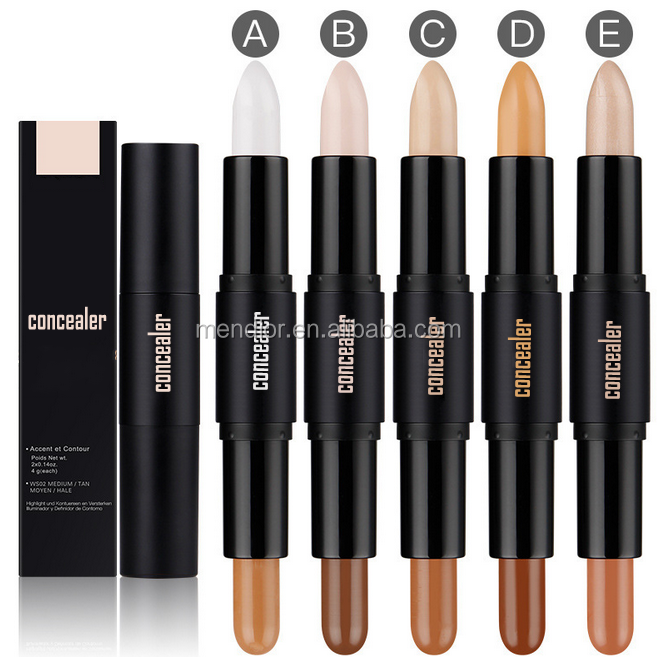 Mendior 2017 OEM Two sided concealer best waterproof concealer pencil for oily skin