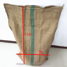 Durable Jute Rice Sack 50KG 100KG Large Gunny Bags for Peanut Flour Wheat Packaging