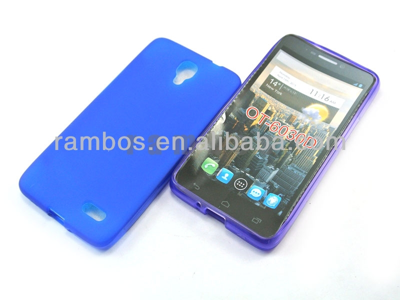 Soft Gel Flexible TPU Case Cover Skin for Alcatel One Touch idol OT6030D
