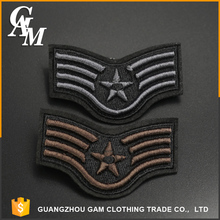 In stock 3D personalized sew on embroidered clothing polo patches for garment