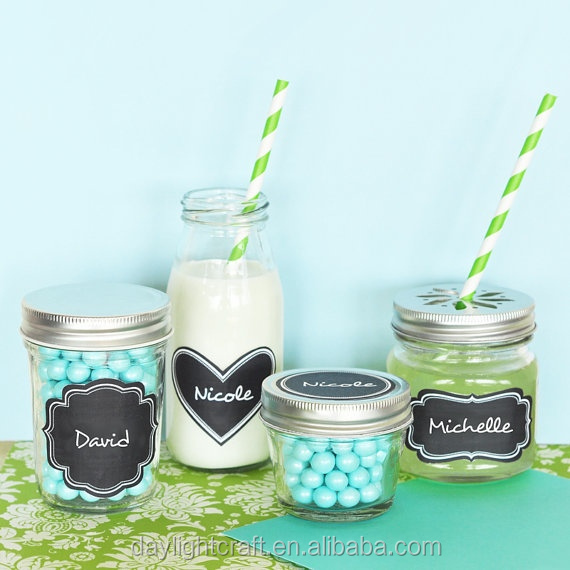 diy cleanable label chalkboard sticker waterproof With diy waterproof labels for jars