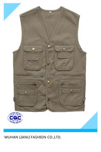 mens multi pockets casual fishing work vest