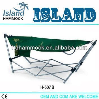 Double hooks foldable hammock