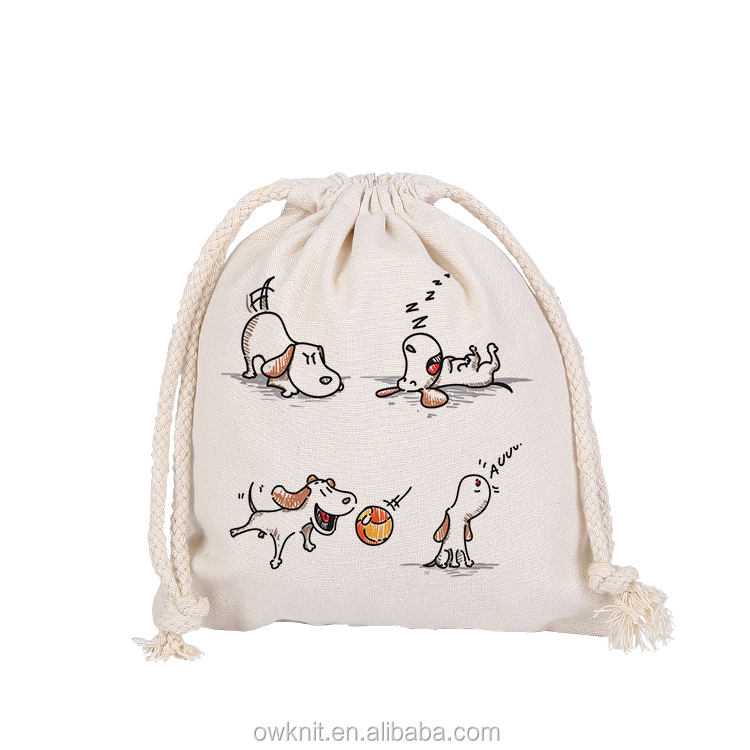 Heavy Duty Wholesale Dubai Organic Cotton Canvas Fabric Drawstring Muslin Bag