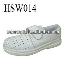 CJ,hot weather used breathable chemical lab used white safety shoes with magic tape