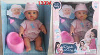 11.8 inch mini toy style with drinking ,pee pee and crying real tear baby doll sale
