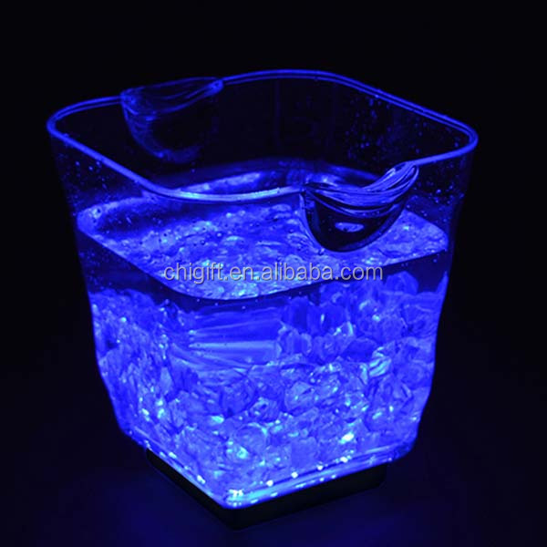 Injection Plastic Modling Type Acrylic Ice Bucket with LED