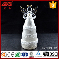 Factory supplier spray old sliver glass angel figurine for home