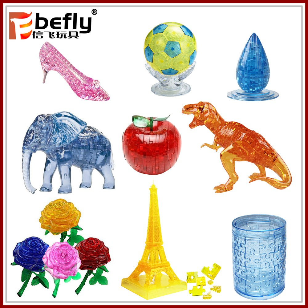 Children intelligent gift toy lingzhi 3d crystal puzzle