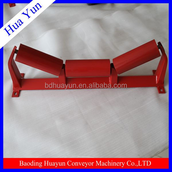 45 degree angle conveyor roller bracket for supporting conveyor roller