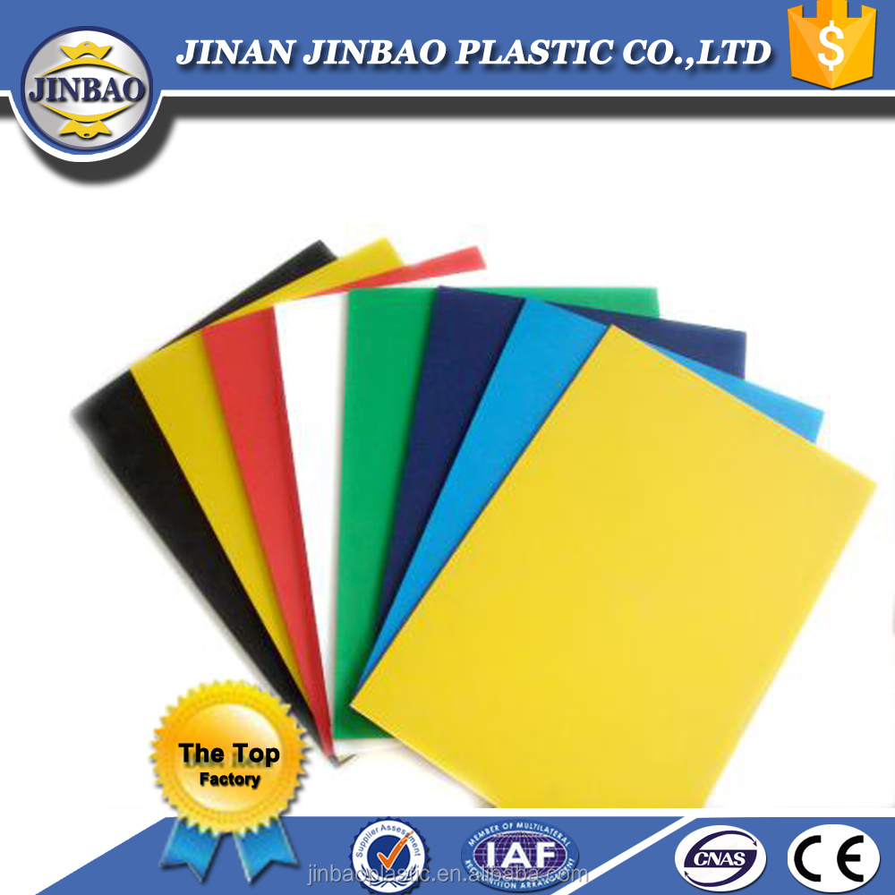 Jinbao plastic manufacturer 48x96 PVC rigid sheet 1-30mm 1.55 g/cm3