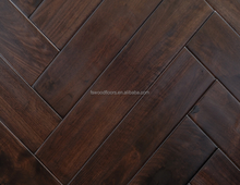solid acacia walnut herringbone hand scraped hardwood flooring