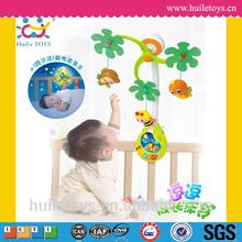 2016 Best selling Huile Toys Infant Developmental Mobile with Music Light Rattles