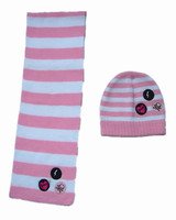 children Hats and scarfs gloves knitted Winter Sets