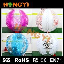 Color Mesh lace inflatable beach ball special rolling transparent balloon large beach toys