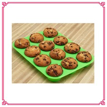 silicone muffin pan, 12 Cup Silicone Muffin & Cupcake Baking Pan
