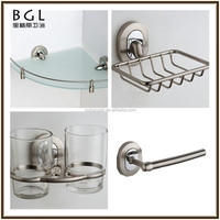 Tranquil European Style Zinc Alloy And Crystal Polished Chrome Wall Mounted Bathroom Fittings Set