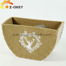 Elegant felt container 2014 Christmas decoration